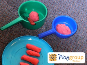 sausages playdough