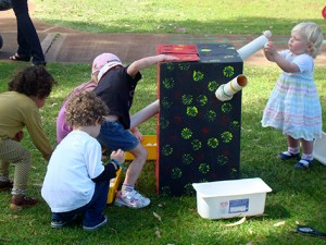 recycled tubes playgroup