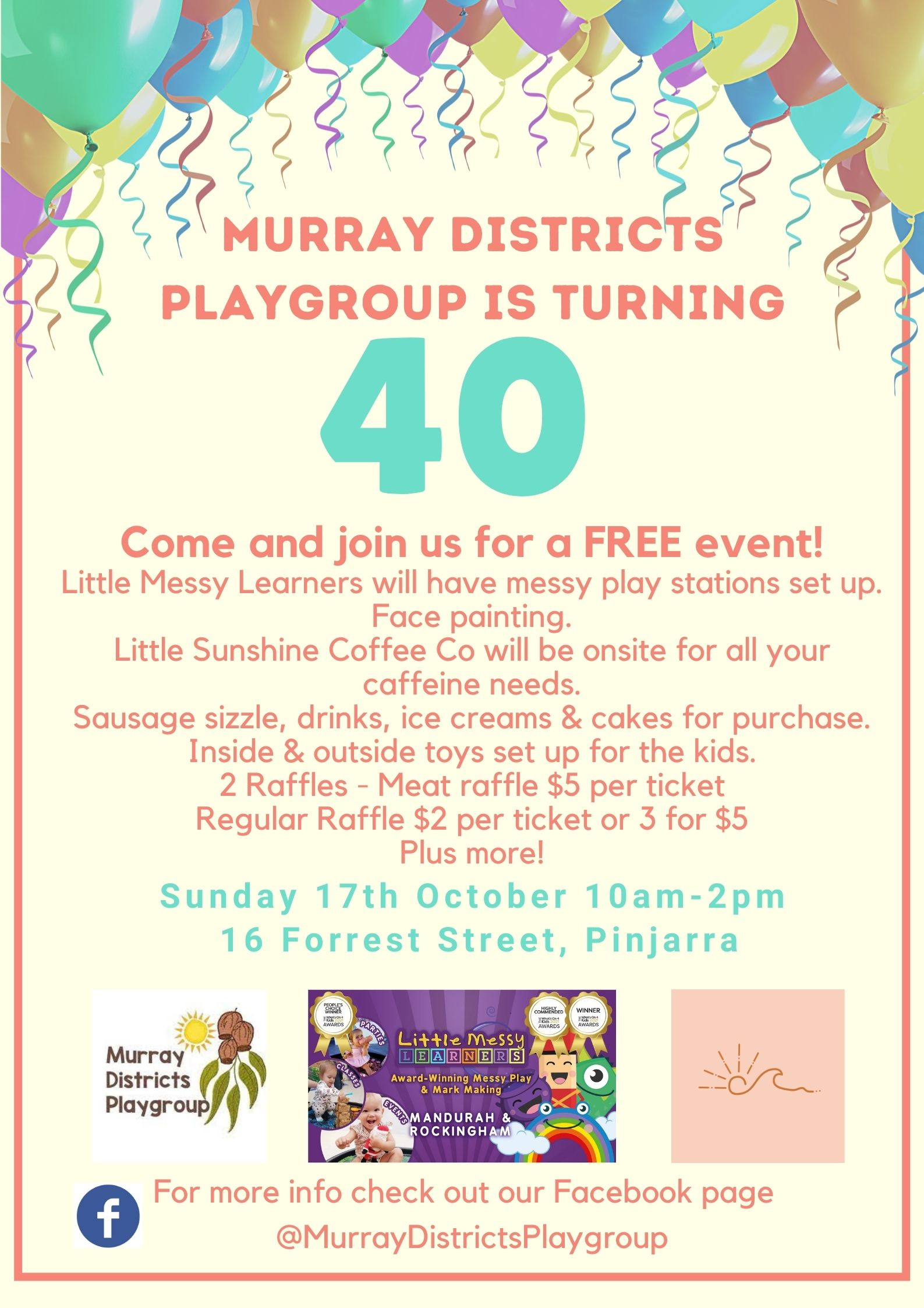 Murray Districts Playgroup is Turning 40