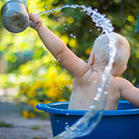 Water play is a great way for your child to learn through play and develop important early skills