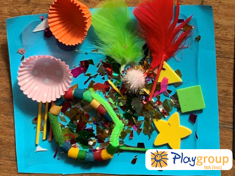 Contact Collage activity idea for early years crafts and fun